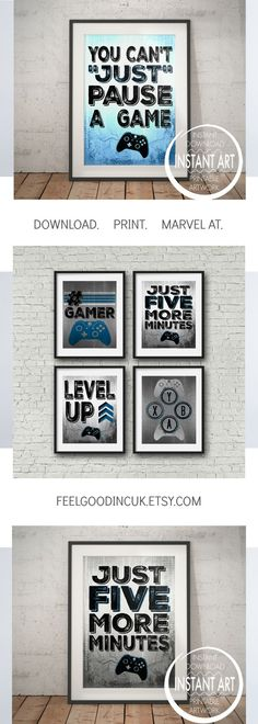PIN TO save for later CLICK to view this and other designs - shop now! Introducing the latest editions to the huge range of video game posters. Take a look! Feelgoodincuk.etsy.com Gamer - Teenage Bedroom - Kids Room - Game Room - Video Game Poster -