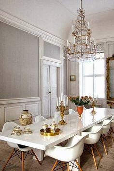 Lustres de cristal ou ferro na sala de jantar: 56 inspirações e diferentes estilos de decoração