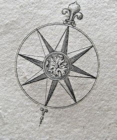 Compass rose. Not a bad idea...needs more details around the circle.