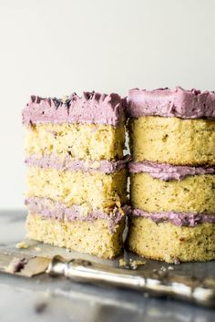 Mini Lavender, Champagne and Hazelnut Cakes