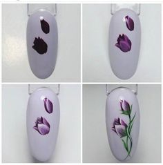 [New] The 10 Best Home Decor (with Pictures) - Tutorial Tulip Nails, Flower Nails, Nail Art Fleur, Fruit Nail Art, Nail Art Techniques, Floral Nail Art, Painted Nail Art, Easter Nail Art, Manicure E Pedicure