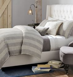 Set the scene this fall with beautiful bedding. Layer on different shades of the same tone for an interesting yet coordinated look. HomeDecorators.com