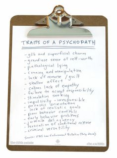 Signs of Psychopathy • *1st 11* • spot on! (can't attest to others)