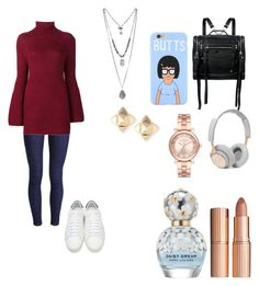 """""""Untitled #49"""" by rowanstella on Polyvore featuring Levi's, Rosetta Getty, Yves Saint Laurent, McQ by Alexander McQueen, B&O Play, Michael Kors, Valentino, Charlotte Tilbury and Marc Jacobs"""