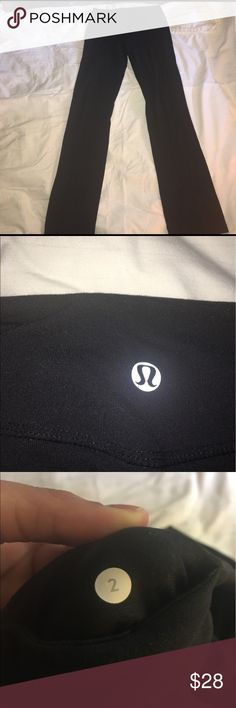 Lulemon Athletica yoga pants Black Lululemon yoga pants worn a couple times but still in good condition:)Comment down if you have any questions or feel free to hit the offer button and make an offer:) lululemon athletica Pants Track Pants & Joggers