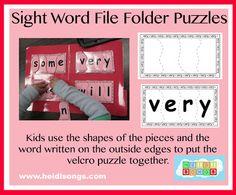 File Folder CVC and Sight Word Puzzles! | Heidi Songs