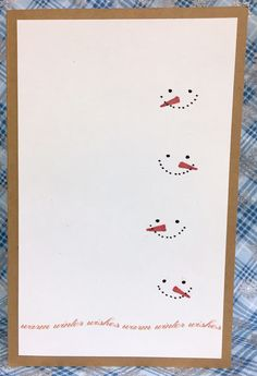 Christmas card - Snowmen