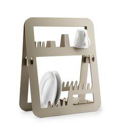 AUREA - Stojak na naczynia (duży, biały dąb)