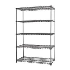 Organize tools and other small parts in your garage with the choice of this extra ordinary TRINITY Black Anthracite Indoor or Outdoor Shelving Unit. Steel Shelving Unit, Wire Shelving Units, Shelving Racks, Corner Storage Unit, Garage Storage Shelves, Craft Tables With Storage, Dry Food Storage, Steel Garage, Garden Storage Shed
