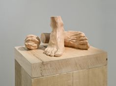 Ricky Swallow-  Rehersal for Retirement  (detail) English Lime wood, Poplar, 2008