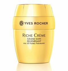 Yves Rocher Riche Crème Deep Regenrating Creme with 30 Precious Oils Collector Edition, 75 ml by Yves Rocher FRANCE. $50.00. New Original Yves Rocher Riche Crème Deep Regenrating Creme with 30 Precious Oils Collector Edition, 75 ml  The most precious skin care The gold standard in mature skin care! Rich, opulent, ultra-concentrated to nourish and regenerate even the driest skin. Collector edition created specially to celebrate the 40th anniversary of the Riche Crème line.  ...