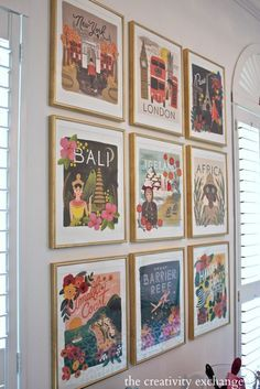 Tips for framing prints from wall calendars for gallery wall. The Creativity Exchange (Rifle Paper Co. calendar)