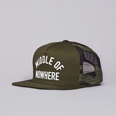 The Quiet Life Middle Of Nowhere Trucker Cap Army Green (£35.00) - Svpply