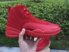 """3e790dd8f77 2017 New Release Air Jordan 12 Premium """"Red Suede"""" Christmas Red For Sale"""
