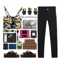 """""""Tropical"""" by ritaflagy ❤ liked on Polyvore featuring JCPenney Home, Charlotte Russe, Threshold, Eileen Fisher, Nintendo, Muji, Acne Studios, Sephora Collection, NARS Cosmetics and vintage"""