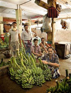 selling bananas, Dhaka, Bangladesh