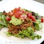 Clean Eating Slow Cooker BBQ Chicken Soft Tacos