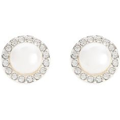 SNÖ of Sweden CARLA Earrings ($36) ❤ liked on Polyvore featuring jewelry, earrings, accessories, jewels, studs, white, pearl earrings, pearl jewelry, white pearl stud earrings and earrings jewelry