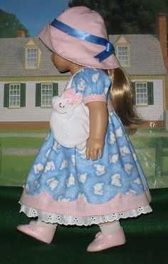 Spring Dress w/bunnies by Sugarloaf Doll Clothes, via Flickr
