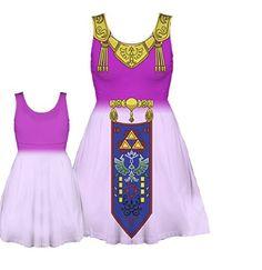 Nintendo - The Legend of Zelda Costume Tank Dress (Juniors X-Small) | #Zelda #OoT