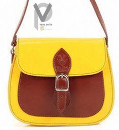 Vera Pelle Leder Handtasche 17cm Henkeltasche Schultertasche Rot Grün Apropos