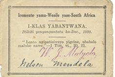 Nelson Mandelas Church Membership Card Mandela Acre Freedom Africa Heroes