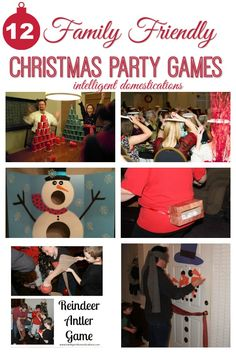 12 Family Friendly Party Games for 12 Days of Christmas - - Welcome to the first year of our 12 Days of Christmas Series! This year we begin with 12 Family Friendly Party Games! Ideas for all ages! Christmas Party Games For Adults, Fun Christmas Party Games, Xmas Games, Adult Christmas Party, Christmas Games For Family, Holiday Games, Birthday Party Games, Carnival Birthday, Christmas Christmas