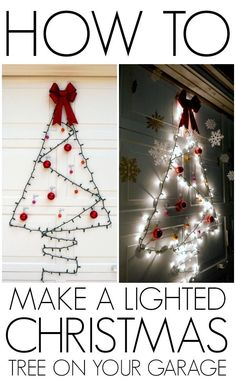 How to add a Christmas tree to your window your garage!
