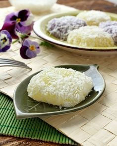 Pichi pichi is a Filipino dessert made basically from just 3 ingredients : cassava, water and sugar.  It is steamed and becomes glutinous. Once it is cooked and cooled it is rolled in grated coconut or grated  cheese.