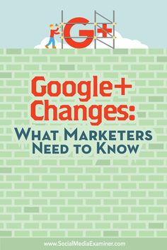 Have you heard about the changes to Google+?  To help marketers understand what to expect, we recently explored the new Google+ and asked notable experts to weigh in with their thoughts on the new design.  In this article you'll discover what's changed with Google+. Via @SMExaminer
