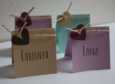 "Kleine Platzkärtchen passend zur Serie ""VINTAGE"" in verschiedenen Farben / wedding place cards VINTAGE style in different colors ..."
