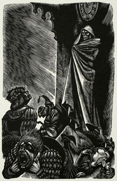 Edgar Allan Poe Tales illustrated by German-American woodcut artist Fritz Eichenberg, 1944