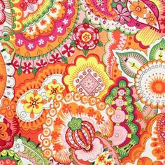 ~ Living a Beautiful Life ~ Alexander Henry House Designer - Somerville - Sloane in Persimmon Paisley Pattern, Pattern Art, Pattern Design, Surface Pattern, Arabesque, Textures Patterns, Fabric Patterns, Indian Patterns, Hand Knitting Yarn