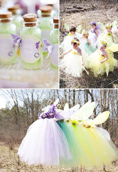 "Dreamy Lavender Woodland Fairy Party - What a cute party!  Love the ""mushroom"" seats."