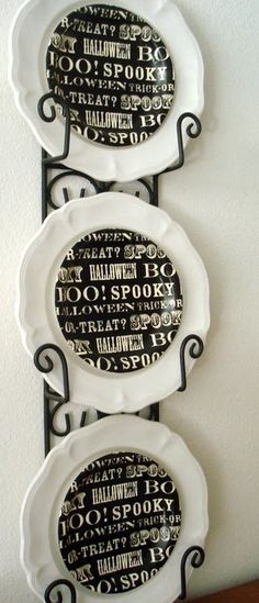 Who would have guessed?  Paper plates taped to stoneware plates