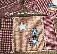 Quilted Placemats, Farmhouse Placemats, Primitive Decor, Primitive ... : country quilted placemats - Adamdwight.com