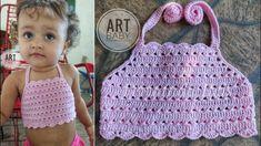 Top Cropped de Croche Para Bebe e Infantil - Profª Fernanda Reis