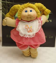 Cabbage Patch Kids Doll Yarn Hair Blue Eyes with Outfit