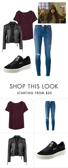 """Inspired By Alex Parrish - Priyanka Chopra"" by itsbeatrizcostaa ❤ liked on Polyvore featuring Aéropostale, Frame Denim, Boohoo, Puma and Quantico"
