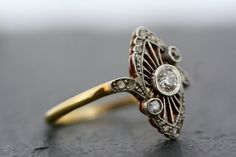 Antique Art Deco Ring Vintage Diamond Art Deco by AlistirWoodTait