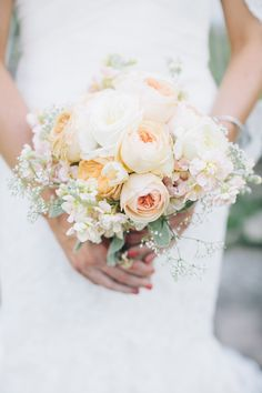 Perfectly lovely bouquet | Photography: Meghann Gregory - meghanngregory.com  Read More: http://www.stylemepretty.com/new-england-weddings/2014/05/02/backyard-medfield-ma-wedding/