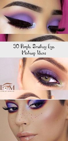 30 Purple Smokey Eye Makeup Ideas  Best Makeup Blue Smokey Eye Eye Ideas Makeup purple Smokey Purple Smokey Eye, Smokey Eye Makeup, Smokey Eye Tutorial, Soft Purple, Full Face Makeup, Blue Makeup, Green Eyes, Makeup Yourself, Best Makeup Products