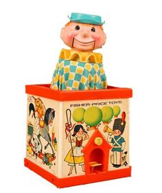 Vintage Fisher Price Jack in the Box... The stuff nightmares are made of.