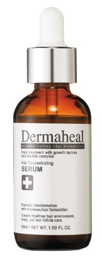 Dermaheal Cosmeceuticals Hair Concentrating Serum, 50ml by Dermaheal Cosmeceuticals. $69.95. Our hair care products are formulated to prevent hair loss, help slow thinning and stimulate hair growth in both men and women. These medical grade formulas contain patented peptides to nourish hair follicles and increase the blood circulation in the scalp.  One of the safest and most powerful hair loss solutions available without a prescription!Contains a high permuta...