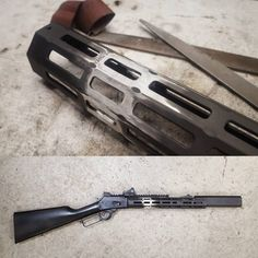 POTD: Railed and Suppressed Lever Gun - Tactical Rifles, Firearms, Shotguns, Weapons Guns, Guns And Ammo, Marlin Lever Action Rifles, Zombie Apocalypse Survival Weapons, How To Make Metal, Military Guns