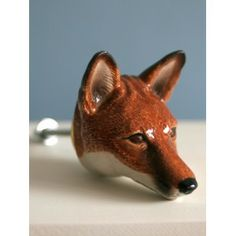 Ceramic Fox Head Knob
