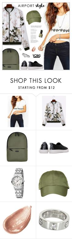 """yoins486"" by nastenkakot ❤ liked on Polyvore featuring Rains, Hermès, Topshop, Jouer, Cartier, yoins, yoinscollection and loveyoins"