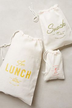 Muslin Snack Sacks #anthropologie