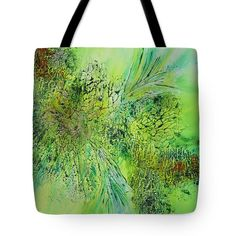 Abstract Art - The colors of Spring Tote Bag by Sabina Von Arx Beach Towel Bag, Green Bathroom Decor, The Colour Of Spring, Thing 1, Basic Colors, Poplin Fabric, Bag Sale, Color Show, Colorful Backgrounds