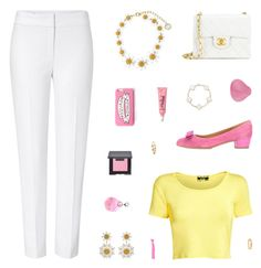 """""""Absolutely Spring"""" by belenloperfido ❤ liked on Polyvore featuring ESCADA, Pilot, Salvatore Ferragamo, Dolce&Gabbana, Chanel, Popband, Missguided, Laura Mercier and Gorjana"""